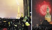 Le passage à 2012 dans le monde