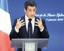 Présidentielles françaises : Sarkozy lance l'année électorale en se posant en capitaine responsable