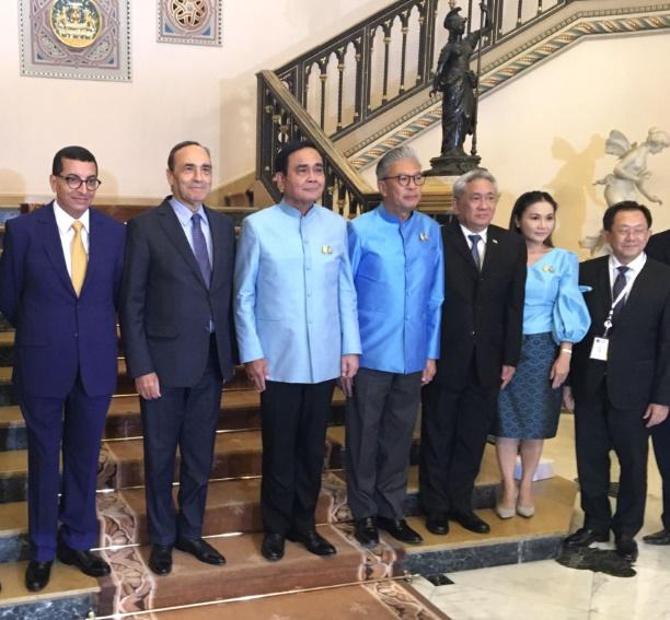 Habib El Malki reçu par Prayut Chan-o-cha.