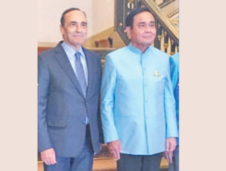 Habib El Malki et Prayut Chan-o-cha.