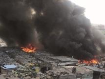 Dix baraques détruites à Hay Hassani : Incendie à souk Dallas