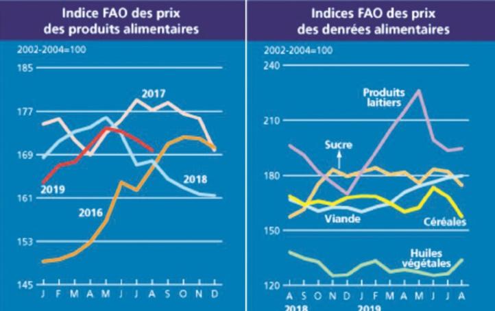 Forte chute des prix des céréales de base et du sucre à l'échelle mondiale