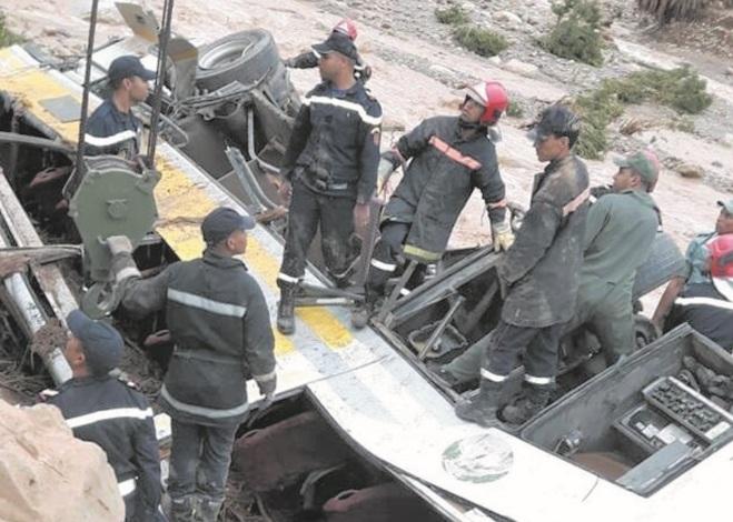 Le bilan du renversement d'un autocar dans la province d'Errachidia s'alourdit