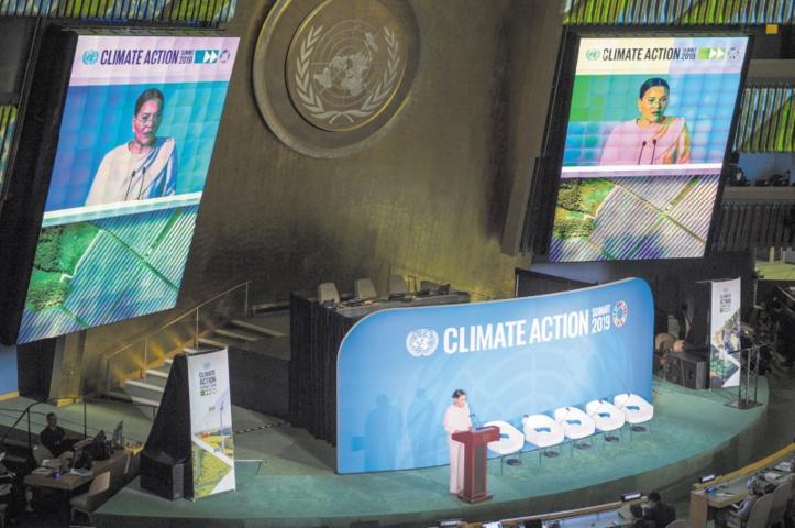 Dans son message adressé au Sommet Action Climat