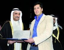 Taha Adnan reçoit le prix : international du mélodrame de Fujaïrah