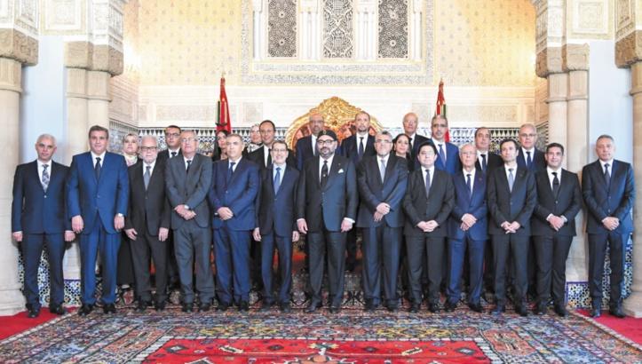 S.M le Roi reçoit le nouveau gouvernement et préside un Conseil des ministres