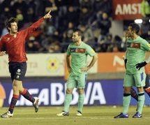 Le Barça laisse filer la Liga