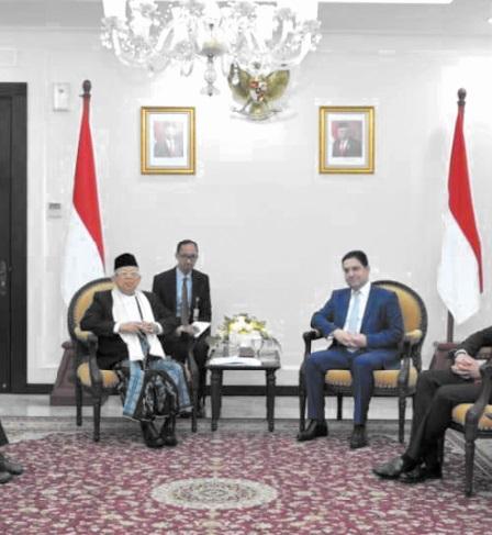 Nasser Bourita s'entretient avec le vice-président indonésien