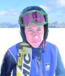 Hamza, l'étoile montante du ski national