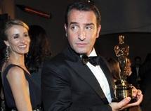 L'acteur français et «The Artist» raflent cinq Oscars : Jean Dujardin aux anges