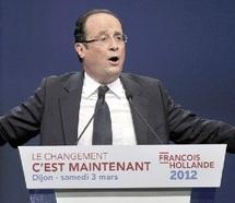 Le candidat socialiste en meeting à Dijon : Hollande promet un Etat impartial et une loi de décentralisation