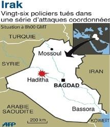 Recrudescence des violences en Irak :  Une série d'attaques coordonnées contre la police à Haditha