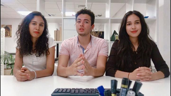 De gauche à droite : Kamilia Benzayyan, Zakaria Natiji et Imane Bicane