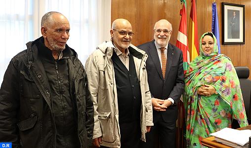 Manuel Lazertura Rodriguez et la délégation de la société civile de nos provinces sahariennes.