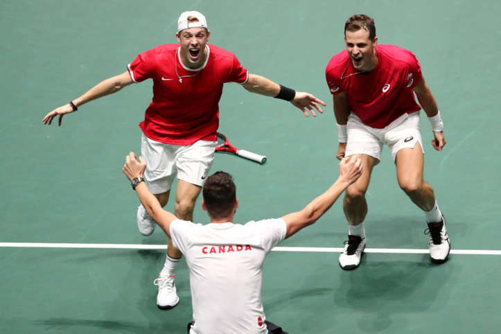 Le Canada au dernier carré de la Coupe Davis
