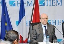 Alain Juppé à HEM-Rabat, diagnostic d'un monde en changement : Les Occidentaux ne sont plus le centre du monde