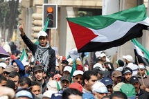 Marche de solidarité avec le peuple palestinien à Rabat