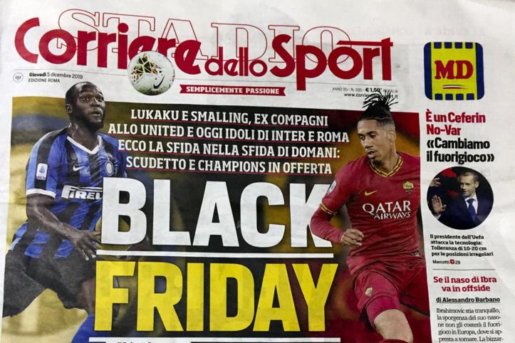 Racisme Lukaku et Smalling fustigent la une d'un journal  en Italie