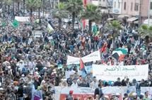 Soutien populaire à la cause palestinienne à Casablanca : Benkirane s'improvise en tribun et Ramid prié de quitter les lieux par les manifestants