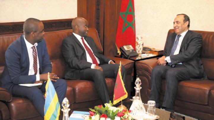 Habib El Malki reçoit le secrétaire d'Etat rwandais chargé de la Communauté de l'Afrique de l'Est