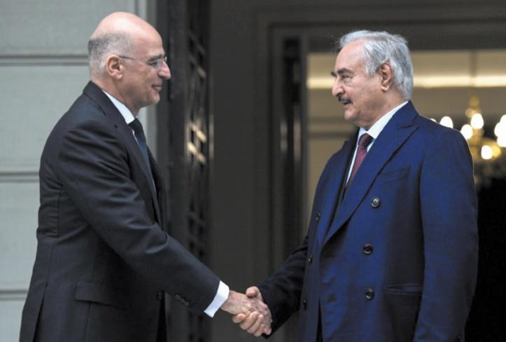 Haftar chez son allié grec avant la conférence de Berlin