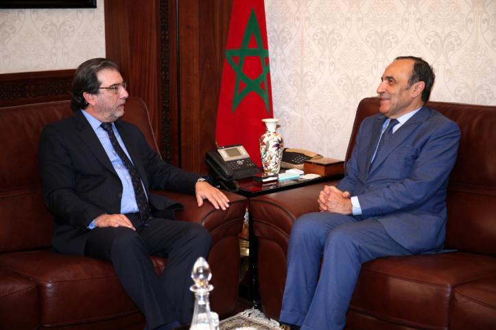Habib El Malki reçoit l'ambassadeur d'Argentine à Rabat