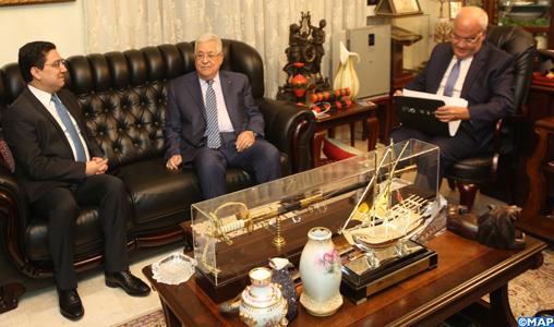 Message verbal de S.M le Roi à Mahmoud Abbas