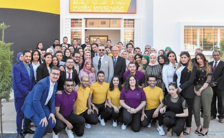 S.M le Roi inaugure la plateforme Argana pour l'écoute et l'orientation des jeunes