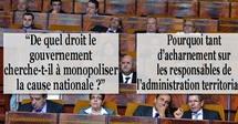 """""""De quel droit le gouvernement cherche-t-il à monopoliser la cause nationale ?"""""""
