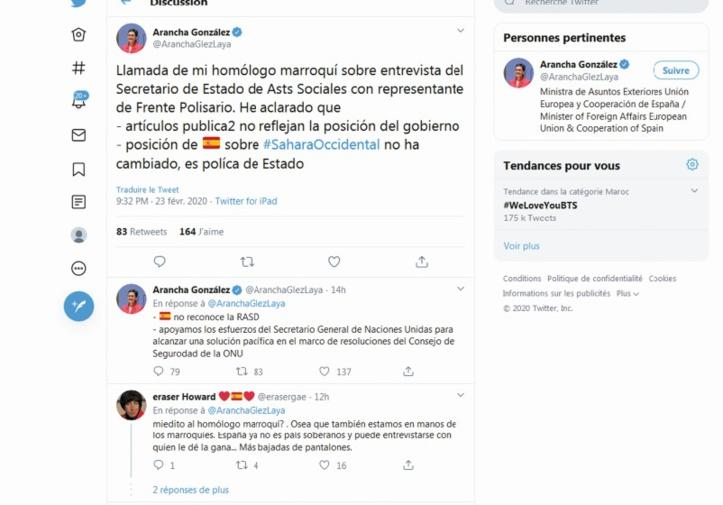 Madrid ne reconnaît aucunement la fantomatique RASD