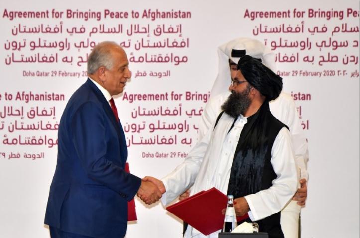 Khalilzad-Baradar, les négociateurs de l'accord américano-talibans