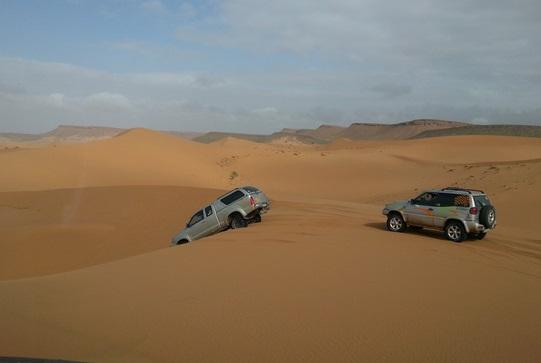 Coup d'envoi du Raid Sahara Adventure Valladolid-Maroc