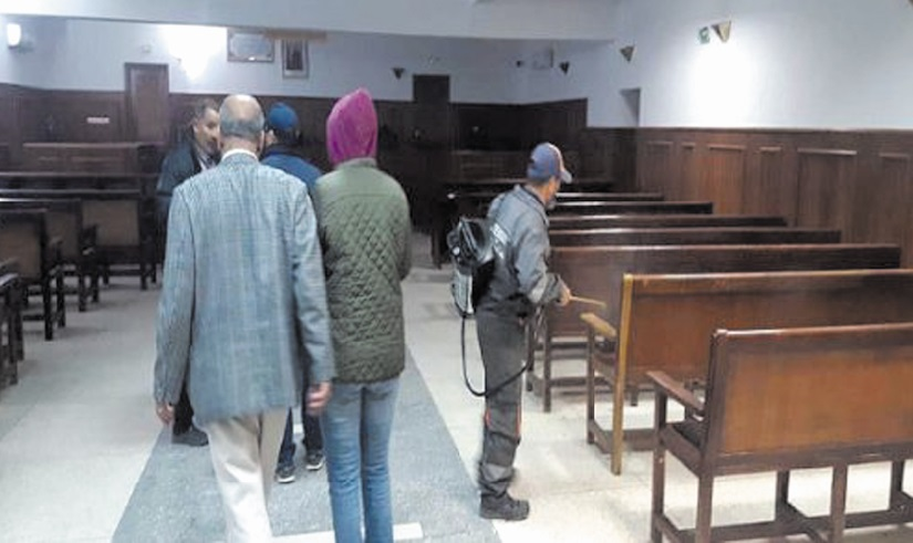 Suspension des audiences des tribunaux jusqu'à nouvel ordre