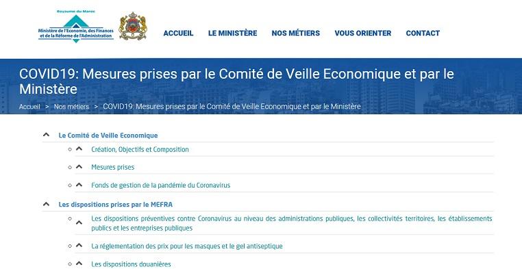 Le ministère de l'Economie lance une rubrique dédiée aux mesures prises contre le Covid-19