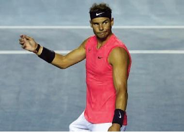 Rafael Nadal : Il me semble difficile qu'un grand tournoi puisse être joué à court ou moyen terme