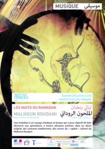 Nuits du Ramadan: Le Malhoun roudani en ouverture à l'Institut français d'Agadir
