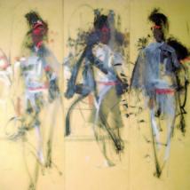 L'artiste peintre accroche ses peintures au Musée de Londres : Habib Kibari aux Jeux olympiques