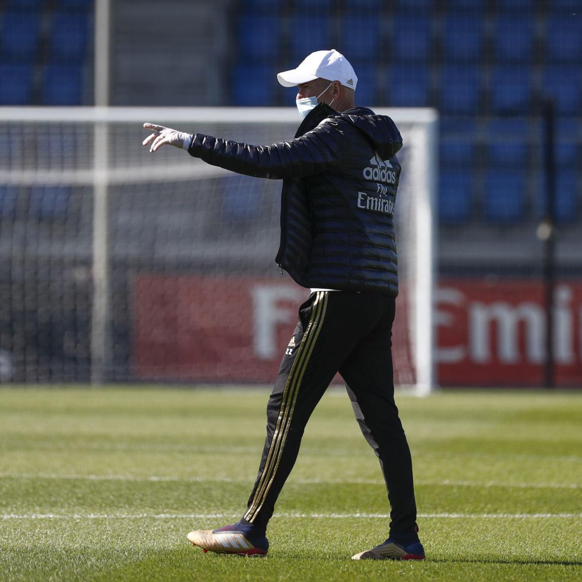 Zidane : Il faut rester positif, on a la chance de pouvoir revenir au travail
