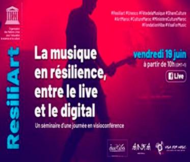 Une visioconférence initiée par l'UNESCO et Visa For Music