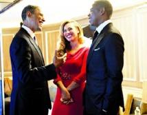 Le couple Jay-Z Beyoncé et les Obama