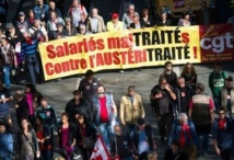 """La gauche manifeste contre la gauche en France : Des milliers de manifestants à Paris contre l'Europe de """"l'austérité"""""""