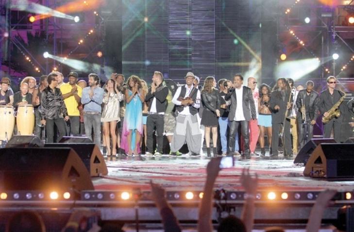 Concert pour la tolérance : Khaled,Vigon et les autres artistes enflamment le public de la plage d'Agadir