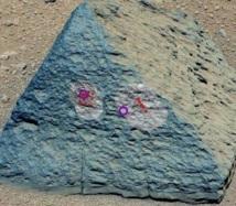 La première roche analysée par le robot Curiosity est inhabituelle sur Mars