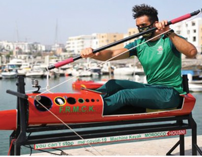 Le kayak immobile, une invention marocaine en plein confinement