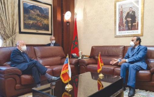 Habib El Malki reçoit l'ambassadeur du Chili au terme de sa mission au Maroc