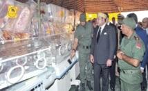 S.M le Roi visite l'hôpital marocain de campagne au camp Zaatari : Dons royaux au profit des réfugiés syriens