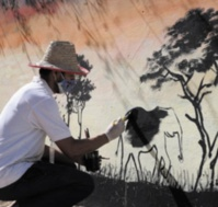 Des fresques murales égaient la kasbah de Bni Ammar