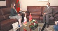 Habib El Malki reçoit la nouvelle ambassadrice du Canada à Rabat