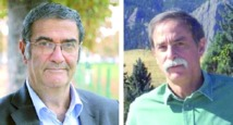 Le Français Serge Haroche (à gauche) et l'Américain David Winela, Prix Nobel de physique en 2012.