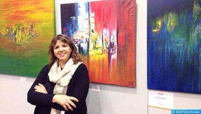 Hayat Saidi: Malgré le coronavirus, le pinceau continuera à répandre l' amour et la beauté
